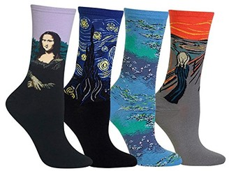 Hot Sox Women's Artist Series Gift Collection Crew Socks