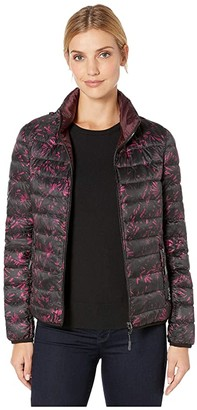 Tumi Clairmont Reversible Packable Puffer Jacket (Floral Tapestry/Merlot) Women's Clothing