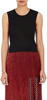 A.L.C. Women's Herrick Silk Crop Top-BLACK