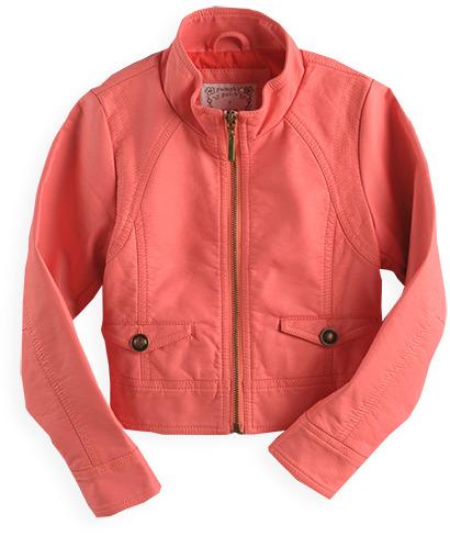 Pumpkin Patch Mock Leather Jacket