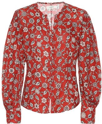 Etoile Isabel Marant Tilo printed linen top