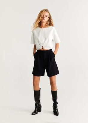 MANGO Ring cotton blouse white - 2 - Women