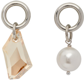 Justine Clenquet Silver Laura Earrings