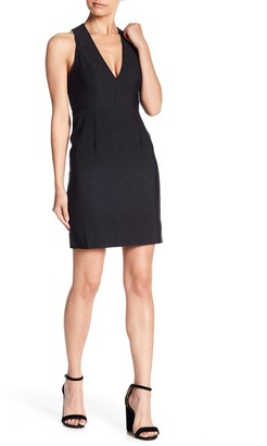 J.o.a. Cross-Strap V-Neck Bodycon Mini Dress
