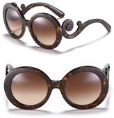 Prada Round Baroque Sunglasses, 55mm