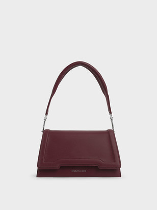 Charles & Keith Trapeze Front Flap Bag
