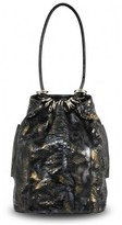 Bodhi pristine (PR) Bohdi Python Barrel Tote Bag with Black Patent Leather Trim
