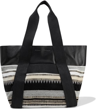 Proenza Schouler Convertible Leather And Jacquard Tote