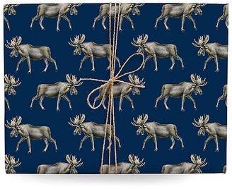 Lana's Shop Set of 3 Moose Gift Wrap