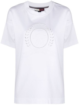 Tommy Hilfiger floral embroidery T-shirt