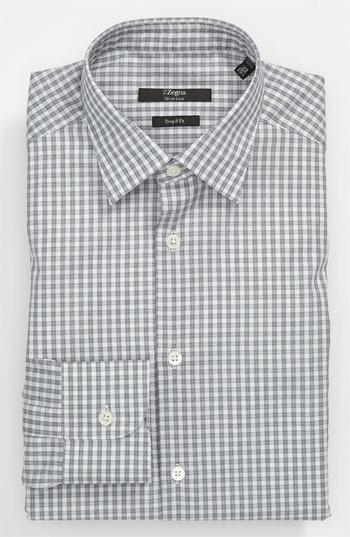Z Zegna Drop 8 Fit Dress Shirt Grey 41 EU