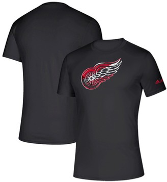 adidas Men's Black Detroit Red Wings Creator climalite T-Shirt