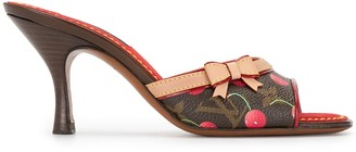 Louis Vuitton x Takashi Murakami cherry monogram sandals