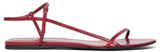 The Row Bare Leather Sandals - Womens - Red