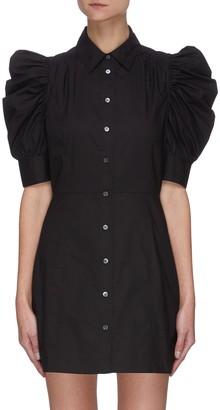 Frame 'Gillian' puff sleeve poplin shirt dress