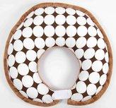 Bacati Dots White/Chocolate Nursing Pillow