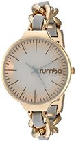 RumbaTime Women's 'Orchard Chain Leather' Quartz Metal and Alloy Casual Watch, Color:Grey (Model: 26047)