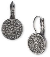 Anne Klein Studded Disc Drop Earrings