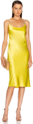 Galvan Christiane Dress in Lime | FWRD