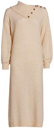By Ti Mo Teddy Knit Merino Wool-Blend Sweater Dress