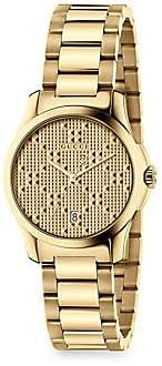 Gucci Women's G-Timeless New Diamante Small Stainless Steel Bracelet Watch