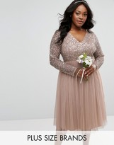 Plus Size Sequin Dress With Sleeves - ShopStyle