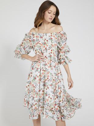 Alice + Olivia Miora High Low Maxi Dress
