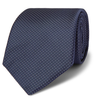 HUGO BOSS 8cm Pin-Dot Silk-Twill Tie - Men - Blue