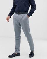 Gianni Feraud Wedding Slim Fit Plain Linen Suit Pants