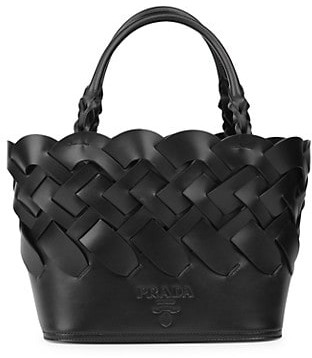 Prada Woven Leather Tote
