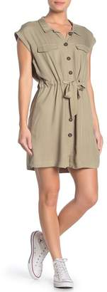 Cotton On Eve Cap Sleeve Utility Shirt Dress
