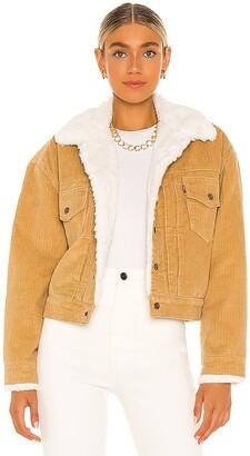 Levi's New Heritage Cord Faux Fur Trucker Jacket