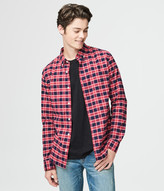 Long Sleeve Check Stretch Oxford Woven Shirt