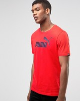 Puma No.1 Logo T-Shirt In Red 83185405