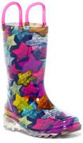 Western Chief Scribble Stars Waterproof Light-Up Rain Boot (Toddler & Little Kid)