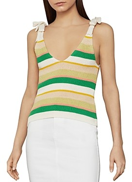 BCBGMAXAZRIA Ribbed Striped Tank Top