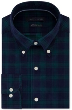 Tommy Hilfiger Men's Classic-Fit Check Dress Shirt, Created for Macy's