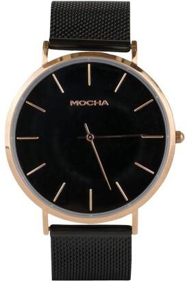 Mocha 41mm Watch Blk -Rg/Blkmesh