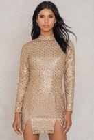 Glamorous Front Slit Sequin Dress