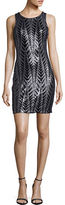 GUESS Sleeveless Sequined Sheath Dress