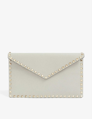 Valentino Rockstud envelope leather clutch