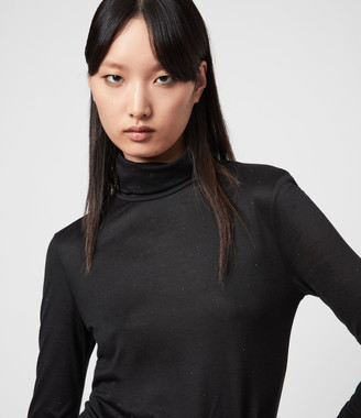 AllSaints Esme Gem Roll Neck Top
