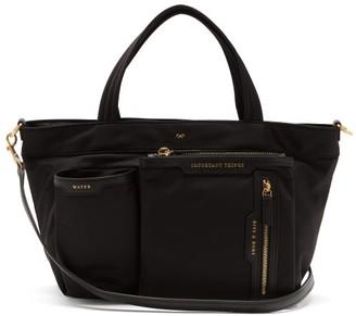Anya Hindmarch Multi-pocket Leather-trimmed Tote Bag - Black