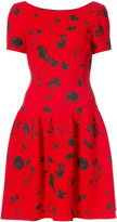 Oscar de la Renta cherry print drop waist dress