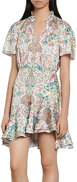 Sandro Iren Floral Print Mini Dress