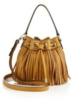 Milly Essex Fringe Small Drawstring Bag