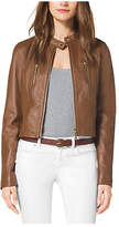 Michael Kors Cropped Leather Jacket
