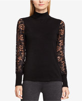 Vince Camuto Lace Mock-Turtleneck Top