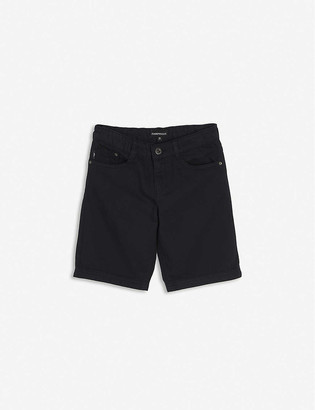 Emporio Armani Branded cotton-blend shorts 4-16 years