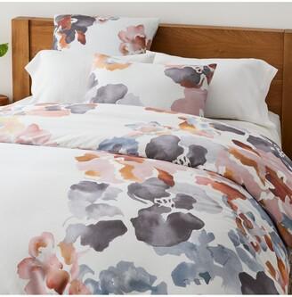 west elm Organic Cotton Floral Bedding, Multi